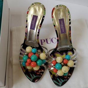 Emilio Pucci bobble studded sandals